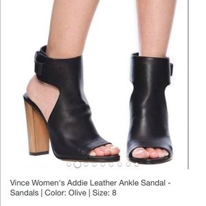 Vince Addie Leather Ankle Sandal  Brown Size: 7.5